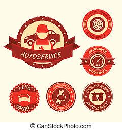 Car auto service set