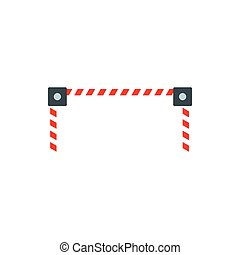 Car barrier icon, flat style