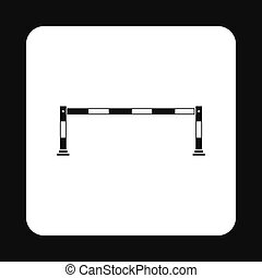 Car barrier icon, simple style