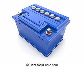 Car battery. 3d