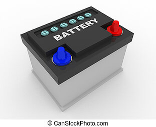car battery concept . 3d rendred illustration