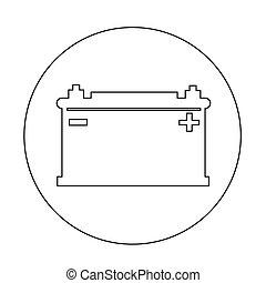 Car battery icon illustration design