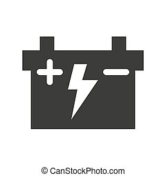 Car battery icon on white background.