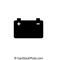 Car battery icon. Vector