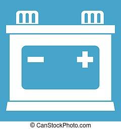 Car battery icon white