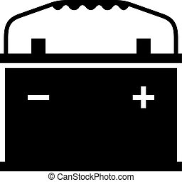 Car battery, shade picture