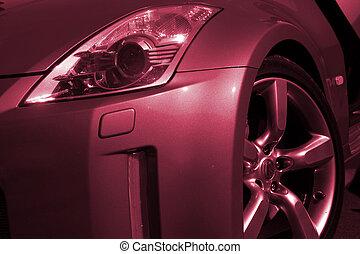 Close-up of a car beacon.