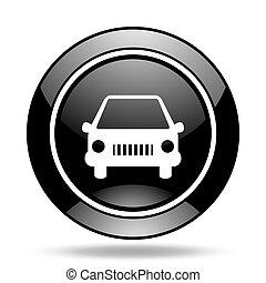 car black glossy icon