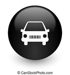 car black glossy internet icon