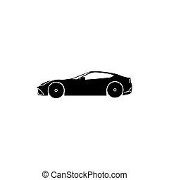 Car black icon vector