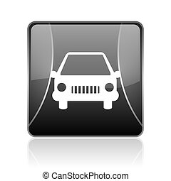 car black square web glossy icon