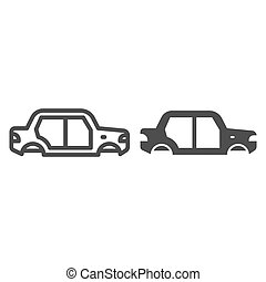 Car body line and glyph icon. Car body vector illustration isolated on white. Auto body outline style design, designed for web and app. Eps 10.