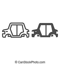 Car body line and glyph icon. Car frame vector illustration isolated on white. Car part outline style design, designed for web and app. Eps 10.