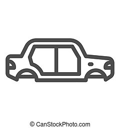 Car body line icon. Car body vector illustration isolated on white. Auto body outline style design, designed for web and app. Eps 10.
