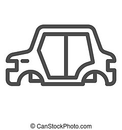 Car body line icon. Car frame vector illustration isolated on white. Car part outline style design, designed for web and app. Eps 10.