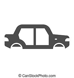 Car body solid icon. Car body vector illustration isolated on white. Auto body glyph style design, designed for web and app. Eps 10.