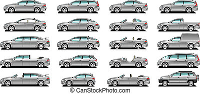 A Vector .eps 8 illustration of car body style.