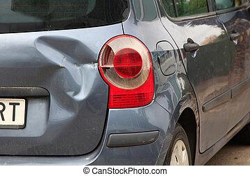 Car bodywork with a blow