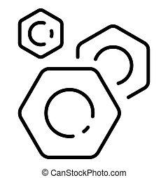 Car bolt icon, outline style