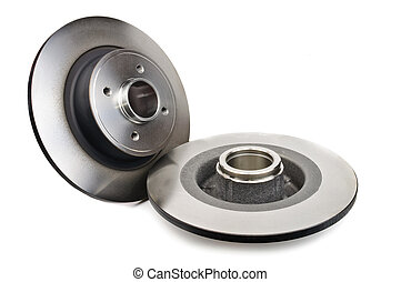 Car brake disc. The photo on white background