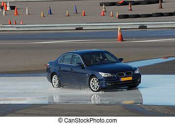 car brake training in wet conditions