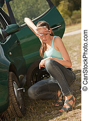 Car Breakdown and tire change