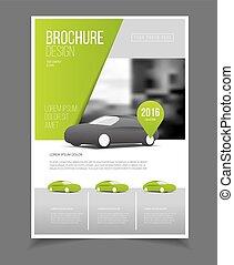 Car brochure. Auto Leaflet Brochure Flyer template A4 size...