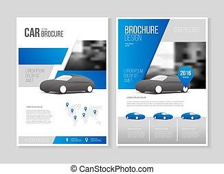 Car brochure. Auto Leaflet Brochure Flyer template A4 size ...