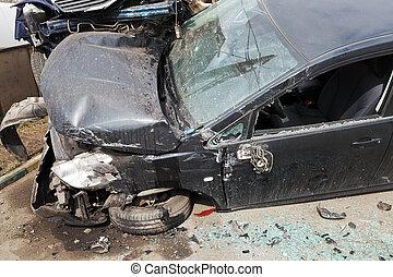 car broken during road accident