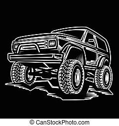 car, caminhão, troféu, suv, 4x4, fora-estrada