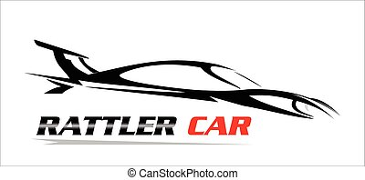 car. - car illustration, side view, black and white, drawing...