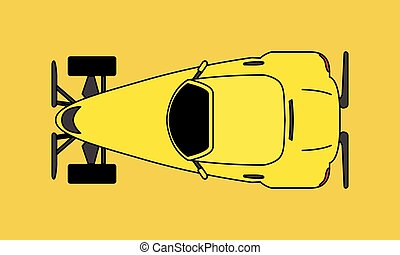 car, caricatura, hotrod