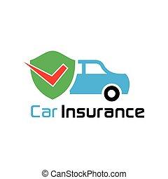 car, carrapato, escudo, seguro