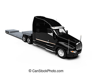 isolated car carrier truck over white