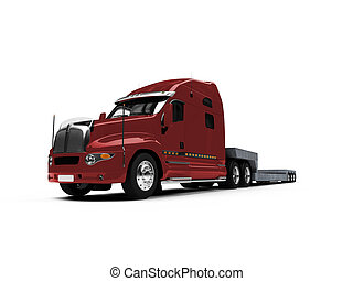 Car carrier truck front view - isolated car carrier truck ...