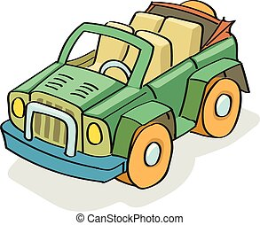 Car cartoon colored vector
