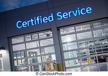 car, certificado, Serviço