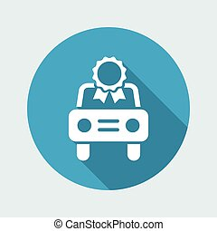 Car certificate concept - Vector icon