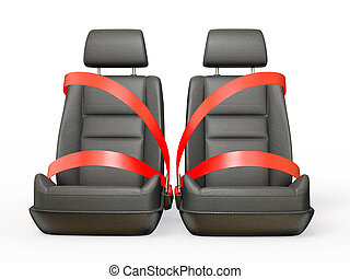car chair isolated on a white background