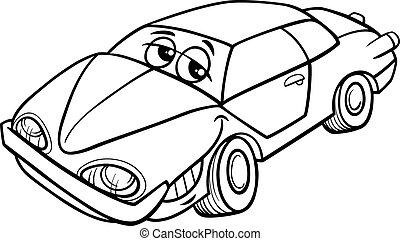 car character cartoon coloring book