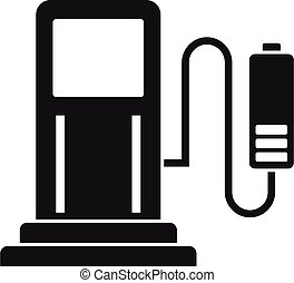 Car charging station icon. Simple illustration of car charging station vector icon for web design isolated on white background