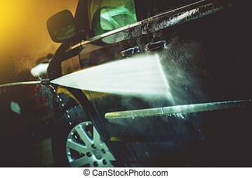 Car Cleaning by Water Cleaner