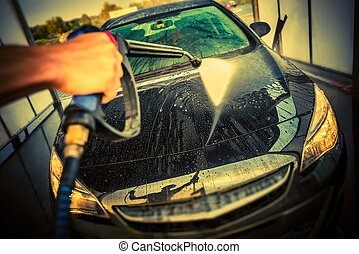 Car Cleaning in a Car Wash