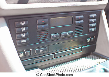 Car climate control close-up photo