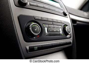 Car climate control close up