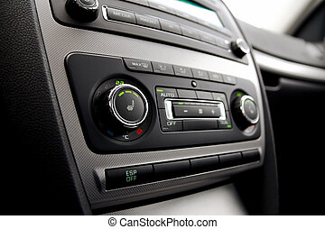 Car climate control close up
