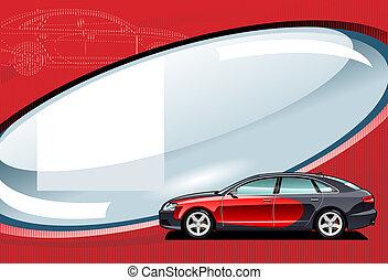 car  - illustration of car.