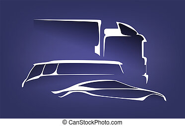 car - an abstract illustration of different vehicle types