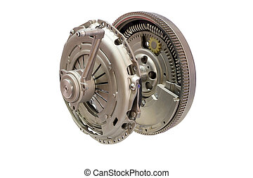 car clutch isolated on white