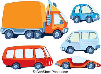 Car collection - Collection of various funny hand-drawn cars...
